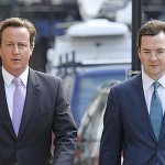 Sévère plan d'austérité britannique par Osborne et Cameron