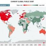 Carte de la dette des Etats