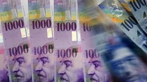 Cours du franc suisse à la baisse