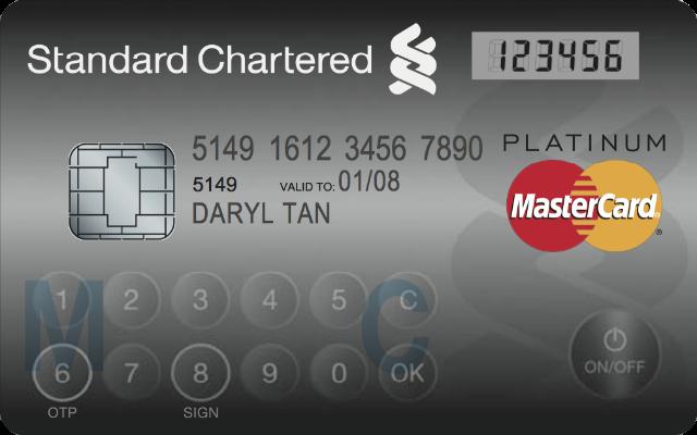 MasterCard carte de crédit avec écran et clavier